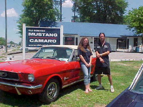 66 Mustang Convertible  -  Tiffany and Duane